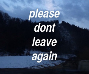 leave, quotes, and sad image