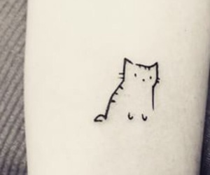 tattoo, small, and cat image