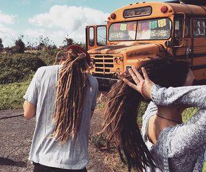 boho, dreads, and hippie image