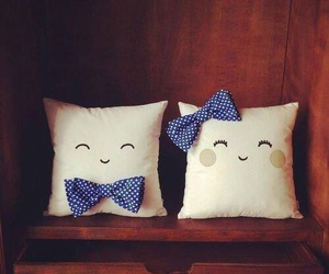 pillow, couple, and bow image
