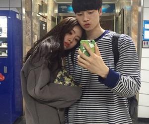 asian, couple, and selca image