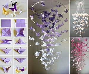 decor, girly, and papillons image