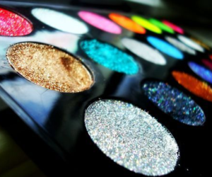 make up, glitter, and makeup image