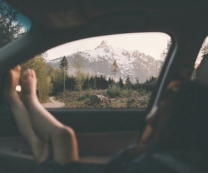 car, forest, and Road Trip image