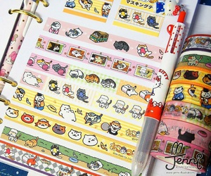 cats, tape, and japan image