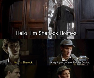 doctor who, fandom, and sherlock image