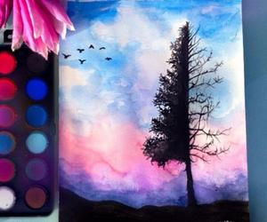art, drawing, and tree image