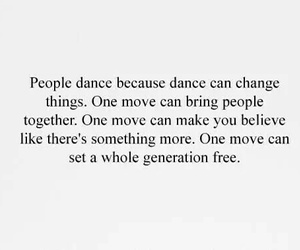 dance, quotes, and people image