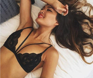 bralette, clothes, and fashion image