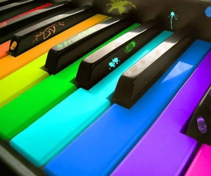 colorful, colors, and music image
