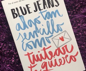 amor, blue jeans, and book image
