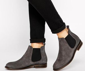 boots, fashion, and gray image
