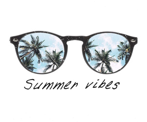 background, palm trees, and sunglasses image