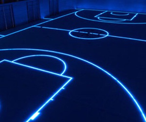 blue, Basketball, and glow image