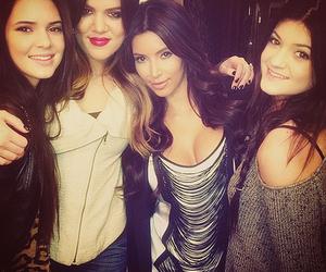 kim kardashian, kendall jenner, and kylie jenner image