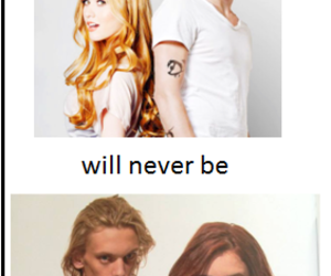 jace wayland, clary fray, and cazadores de sombras image