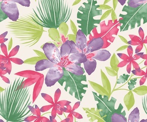 pattern, floral, and flowers image