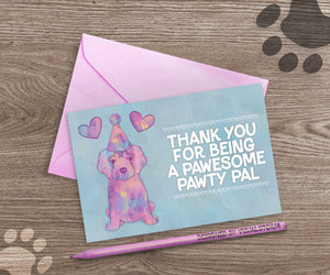 etsy, golden retriever, and thank you card image