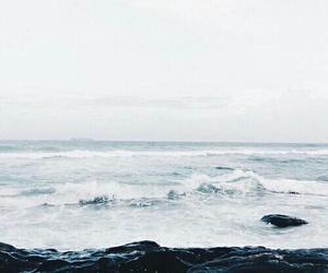 alone, ocean, and pale image