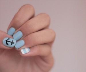 nails, anchor, and blue image