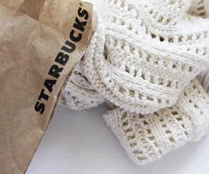 starbucks, sweater, and white image