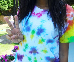 colorful, fashion, and tie dye image