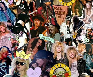 band, Collage, and Guns N Roses image
