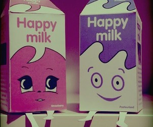 milk, couple, and cute image