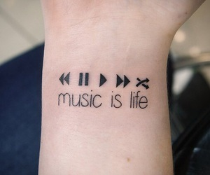 music, tatoo, and tattoo image