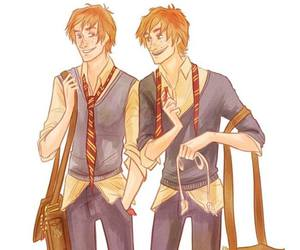 weasley, fred and george, and george image