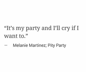 cry baby, frases, and pity party image