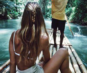 blonde, hair, and long hair image