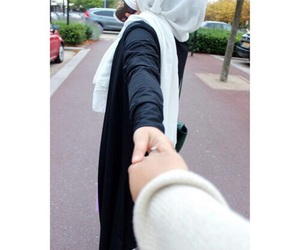 hijab, couple, and muslim image