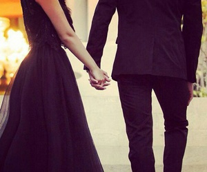 love, couple, and black image
