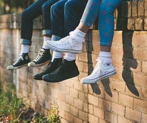 friends, converse, and shoes image