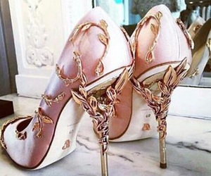 fashion, pink, and heels image