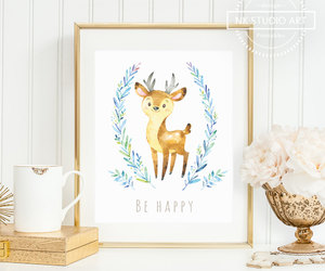 baby deer, etsy, and diy decor image