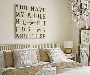 bedroom, room, and heart image