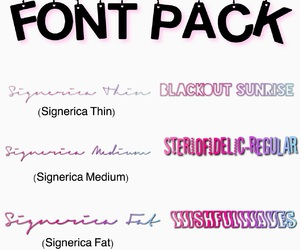font and overlay image