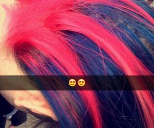 pink blue dye hair image