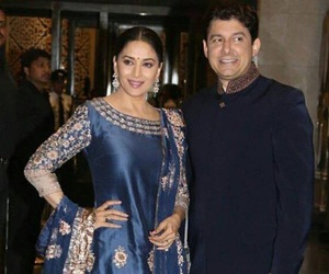 madhuri dixit and with husband image