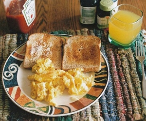 breakfast, food, and toast image