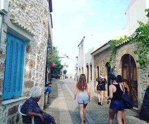 girls, Greece, and town image