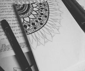 art, black and white, and mandela image