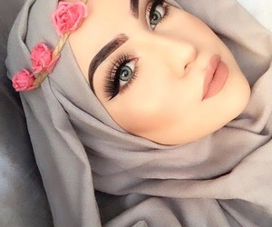 hijab, eyes, and girls image