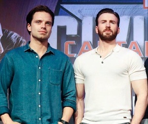 chris evans, sebastian stan, and captain america image