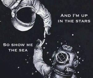astronaut, beautiful, and quote image