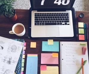 study, school, and coffee image