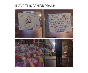 prank, senior, and funny image