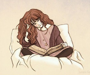books, drawing, and hermione image
